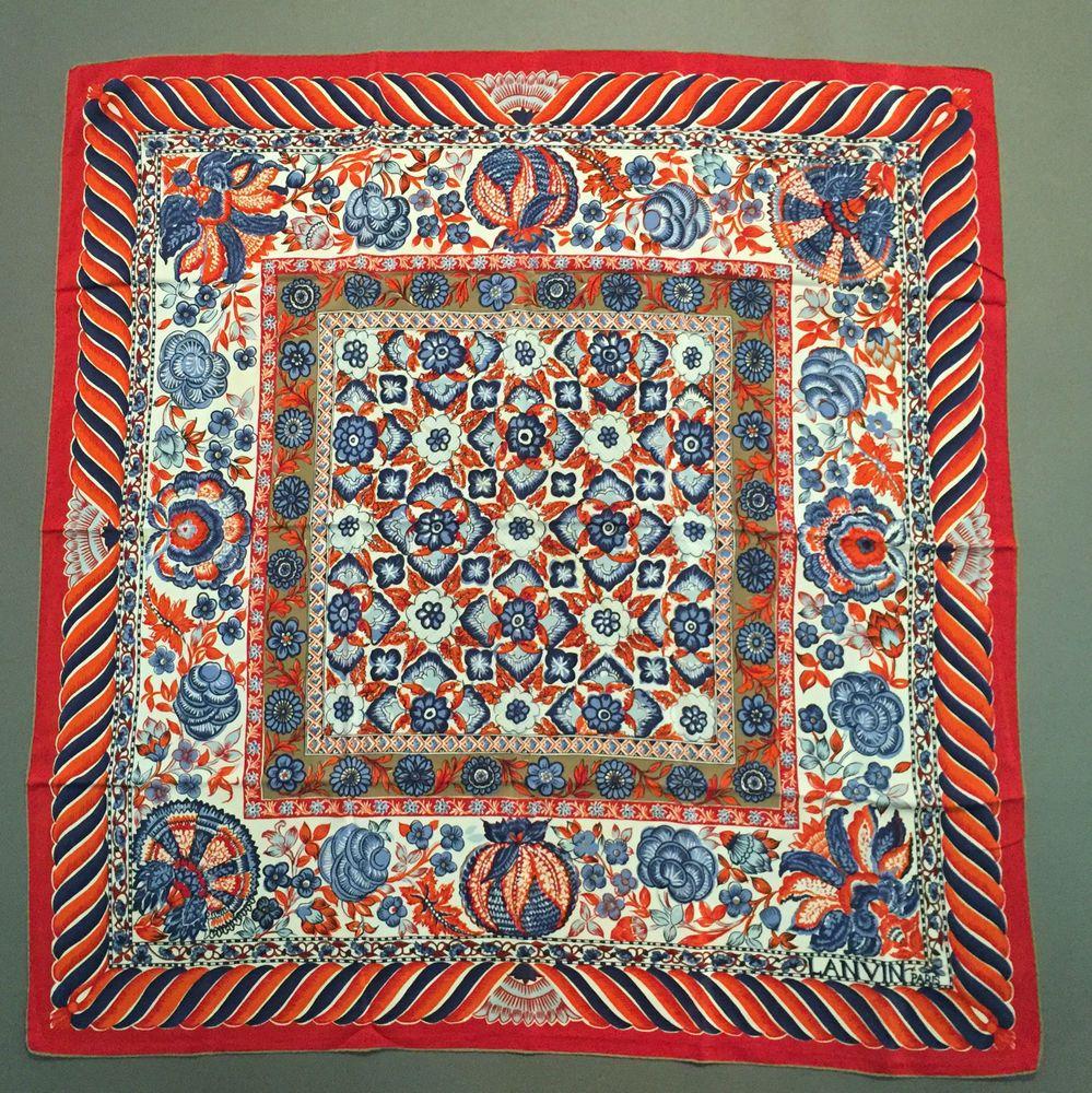 97c8da051aa4 Authentique Foulard LANVIN   Authentic LANVIN Scarf   eBay   Soie ...