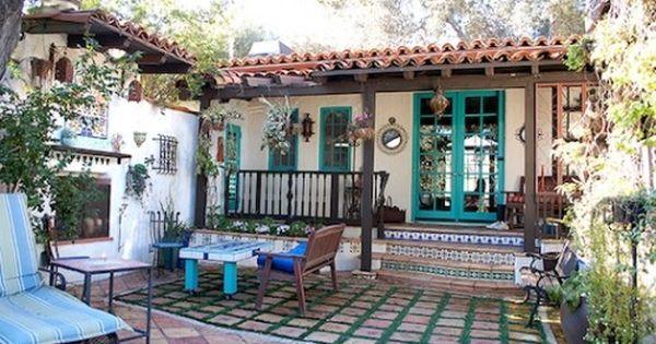 Resultado de imagen para patio porche interior colonial para