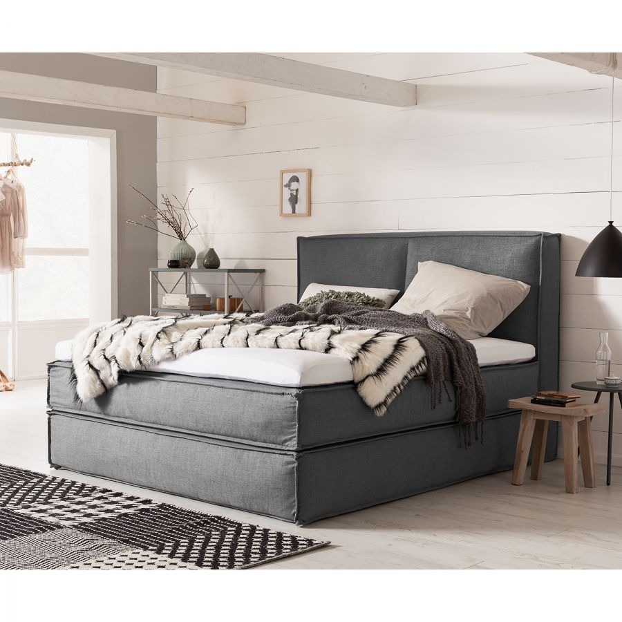 Boxspring Lit Lit Boxspring Kinx En 2019 Chambre Upholstered Furniture Home