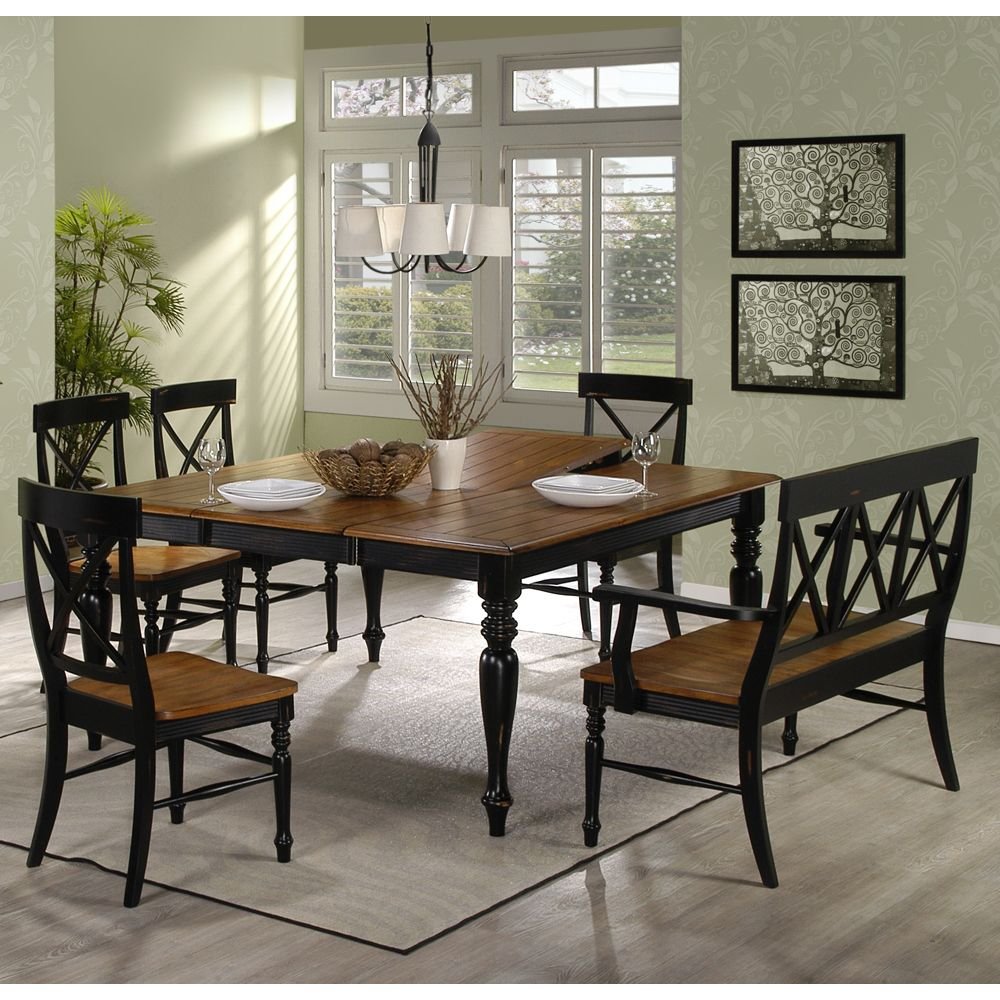 Gatlinburg Leg Dining Table Chairs By Emerald Home