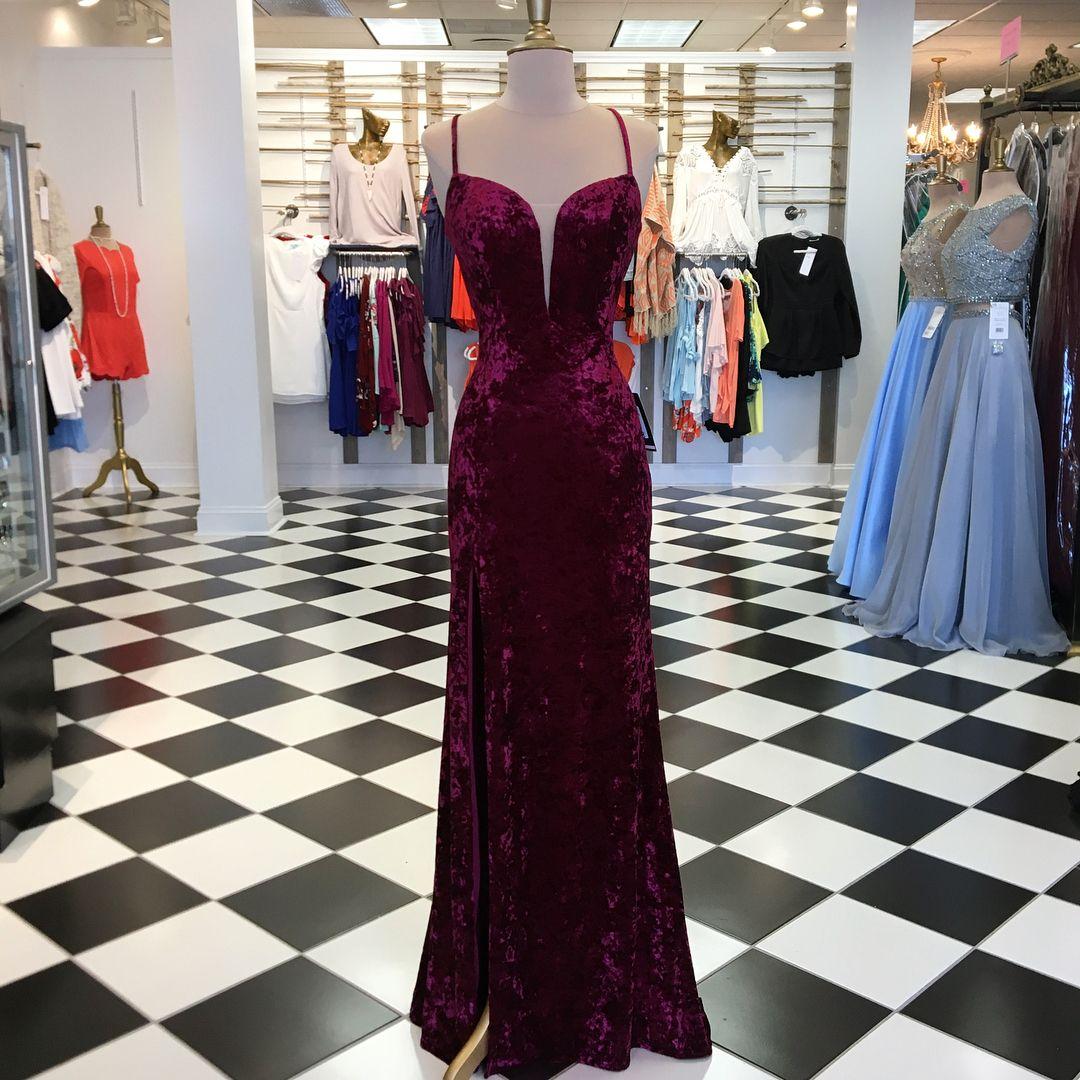 Sexy prom dress mermaid prom dresses long evening dress fp