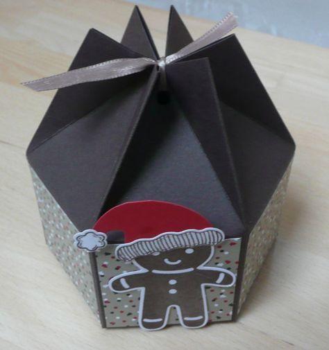 Geschenkbox Weihnachten.Kleine Sechseckige Box Mit Anleitung Zum Nachbasteln Paper Boxes