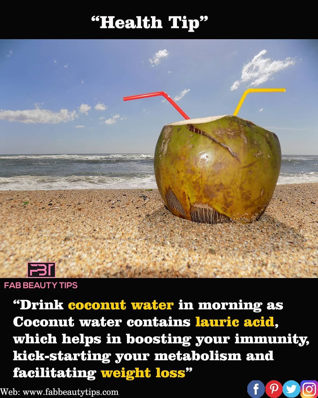 "health tip:"" drink coconut water early morning on an empty"