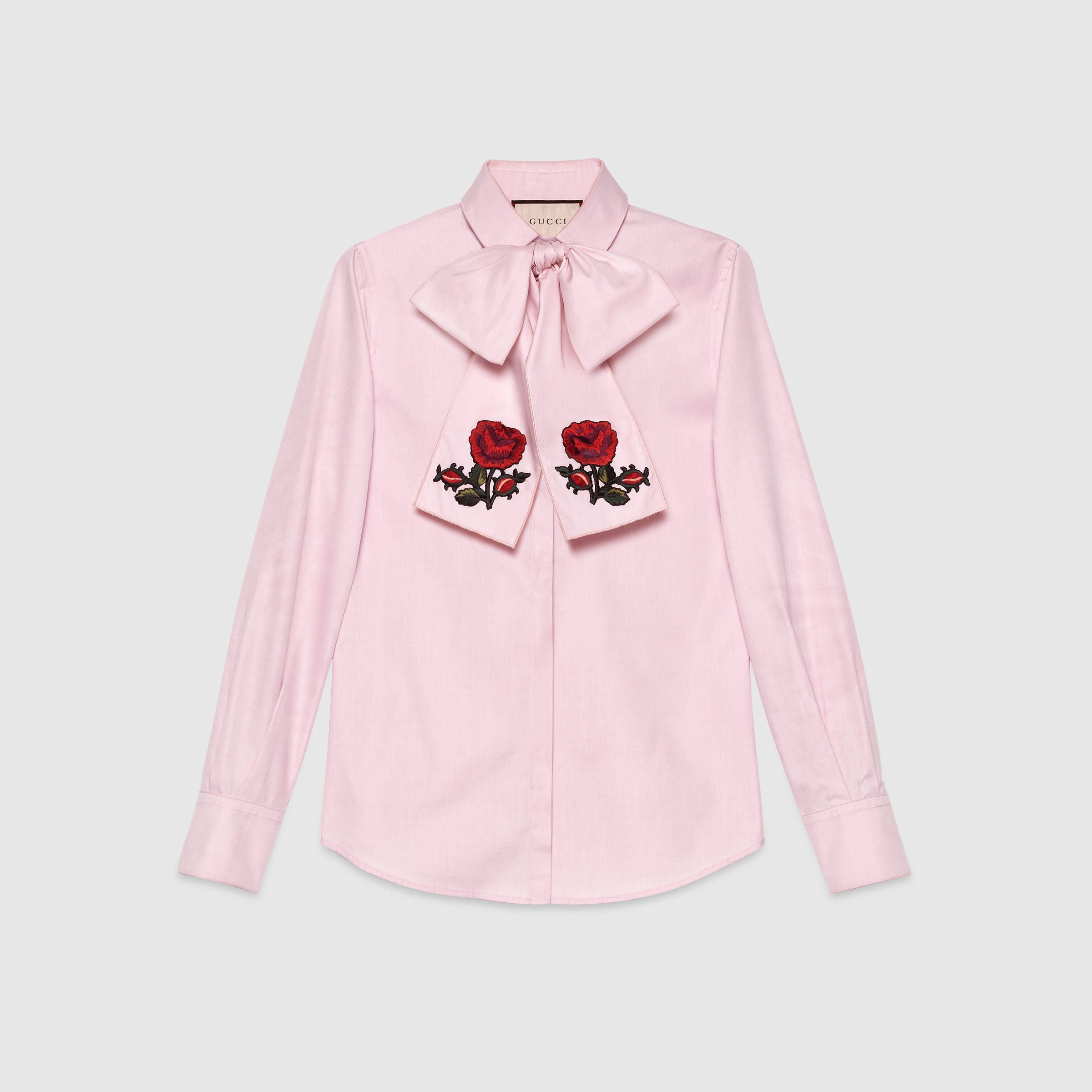 Fashion · Gucci Women - Embroidered oxford scarf shirt - 435334ZHZ925864