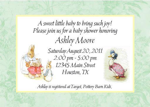 Mother goose peter rabbit invitation travis baby shower mother goose peter rabbit invitation filmwisefo Images