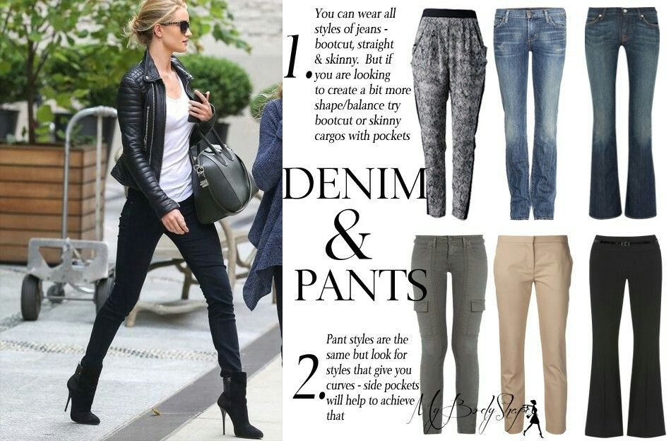 Denim & Pants for Inverted Triangle body shape | Triangle