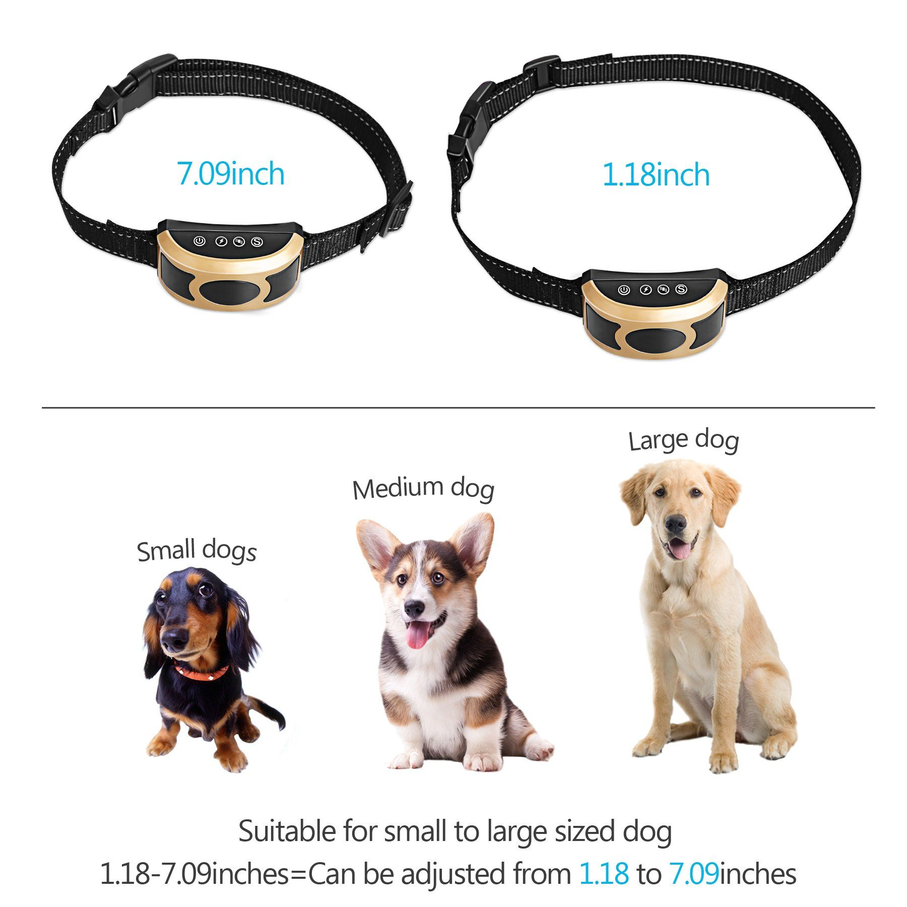 Migohi Bark Collar Rechargeable Humane Anti Bark Shock Collar