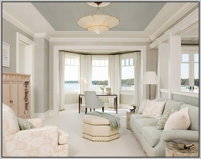 Painting Vaulted Ceiling Same Color As Walls Home Blue Ceilings Starter Home