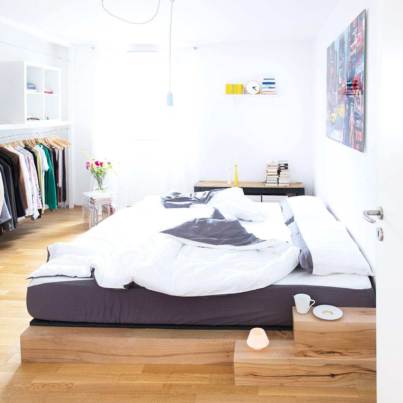 Diy Bett Anleitung Zum Selber Bauen Eines Massiv Holz Bettes Diy Bett Bett Selber Bauen Bett Bauen