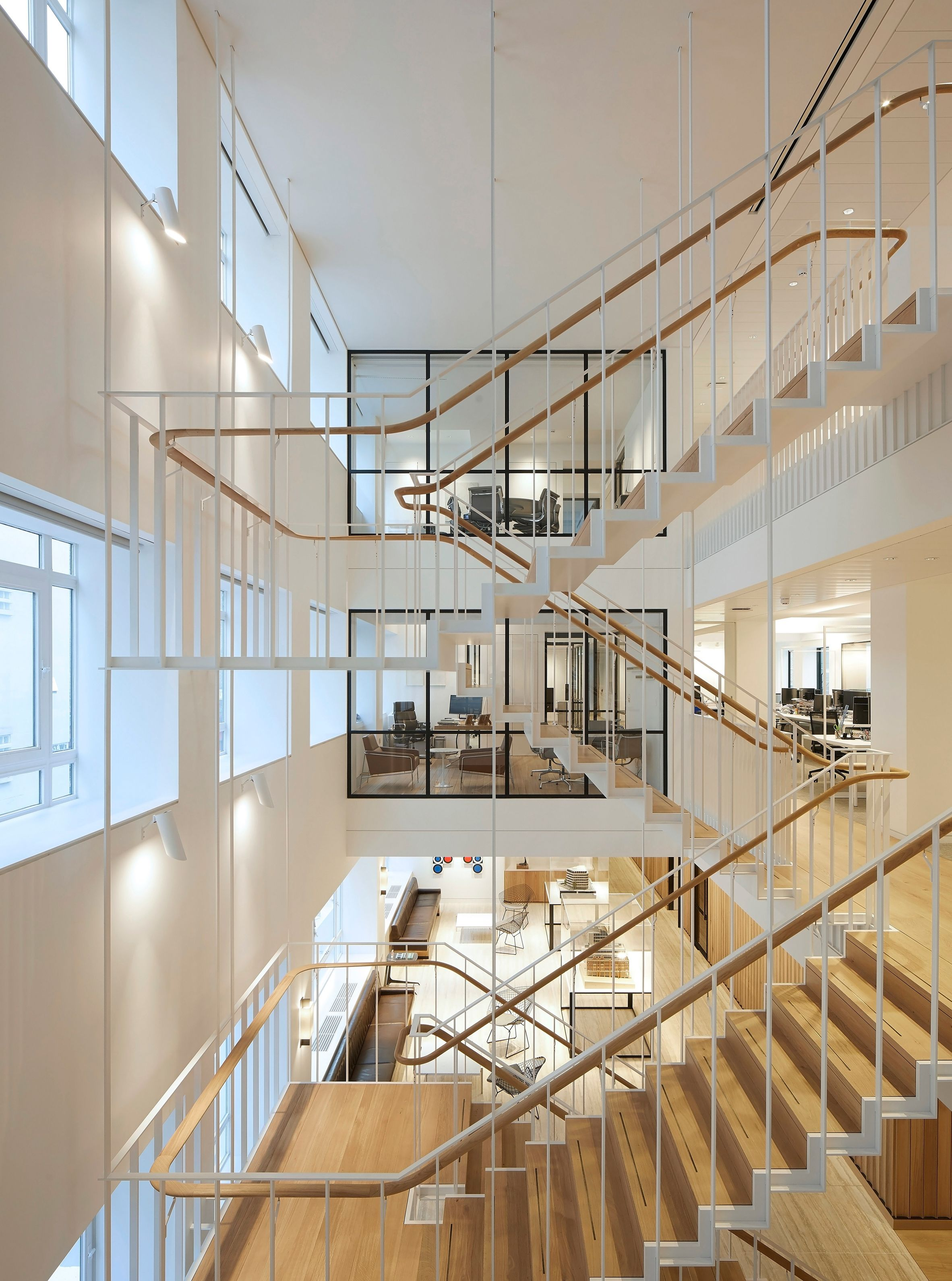 Piercy & Company suspends staircase in new atrium of ...