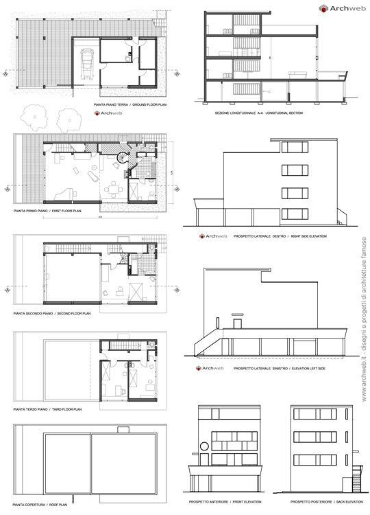 Maison Citröhan 1922 Le Corbusier Archweb 2d Diagrams