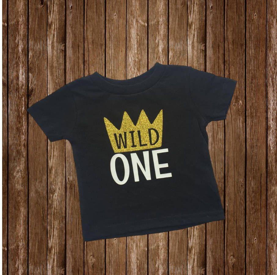 Wild 1 One First Birthday Boy T Shirt Tee Shirt 1st
