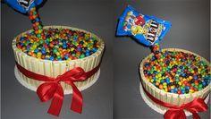 KitKat-M&M's Torte - Rezept und Schritt für Schritt Bildanleitung