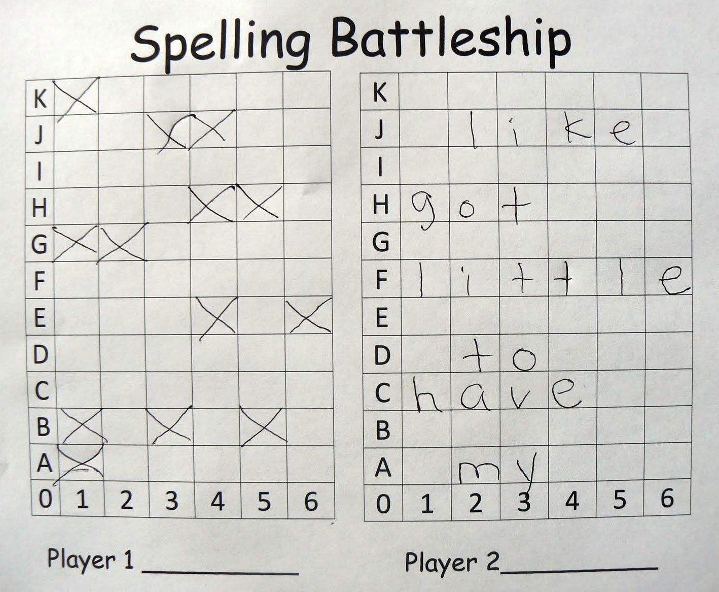 Spelling Battleship  Word Work   Phonics