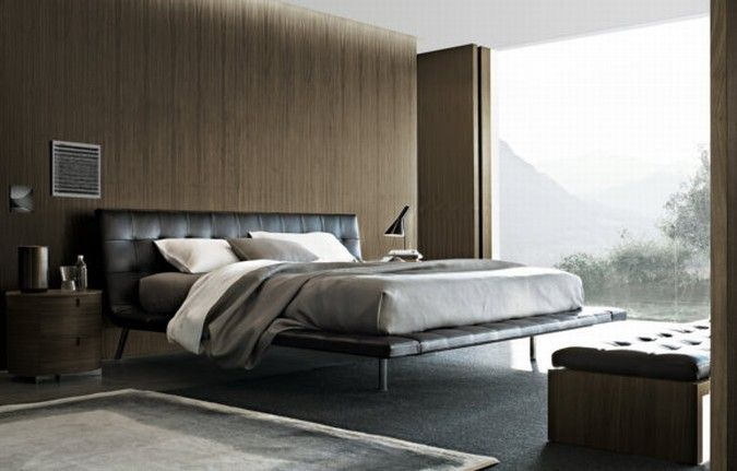 Paolo Piva Onda Bed The Is A Modern Element Of Decoration Characterized By Strong Personalization Light Structure Matches With
