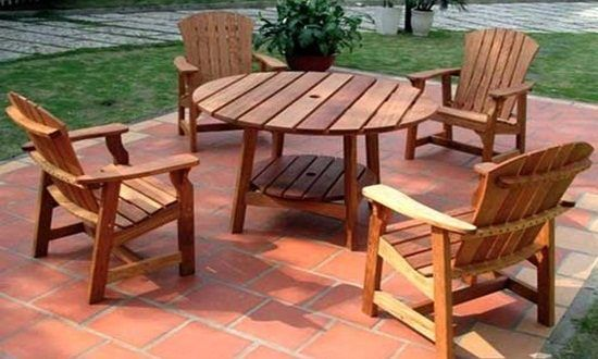 the best wood material for your outdoor furniture is here home rh pinterest ca