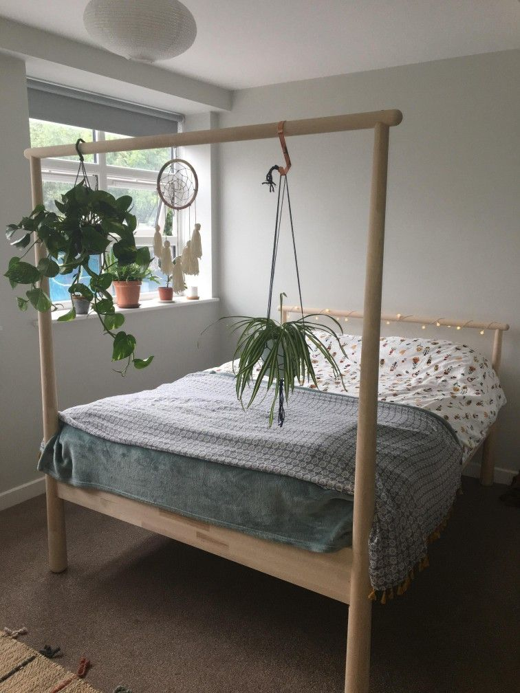 An Ikea Frame Used As A Plant Hanger Bed Frames Birch