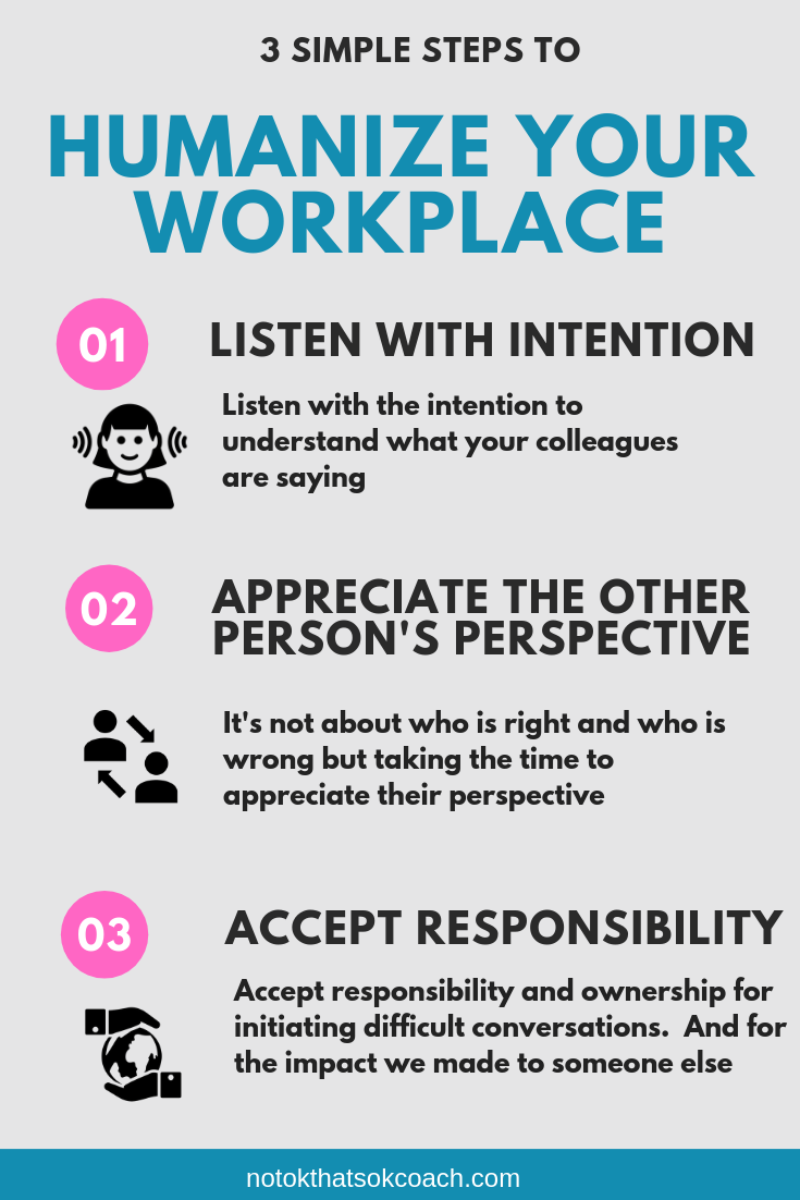 3 Steps To Humanize Your Workplace