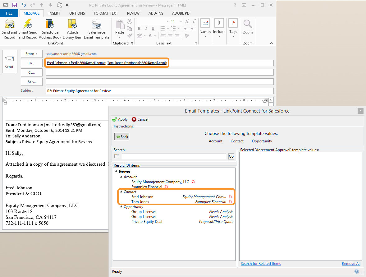 Using Salesforce Email Templates In Outlook Email Templates Templates Messages