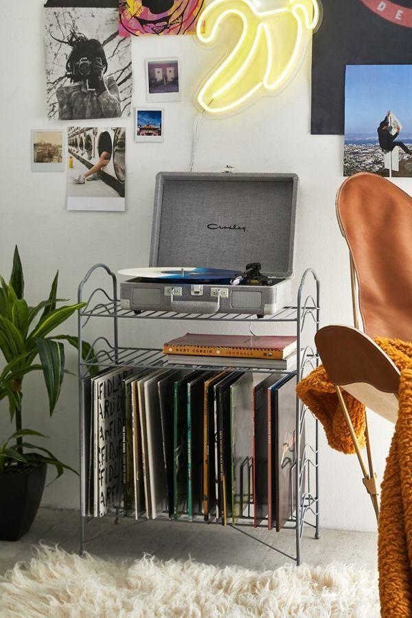 Vinyl Record Storage Shelf #retropop