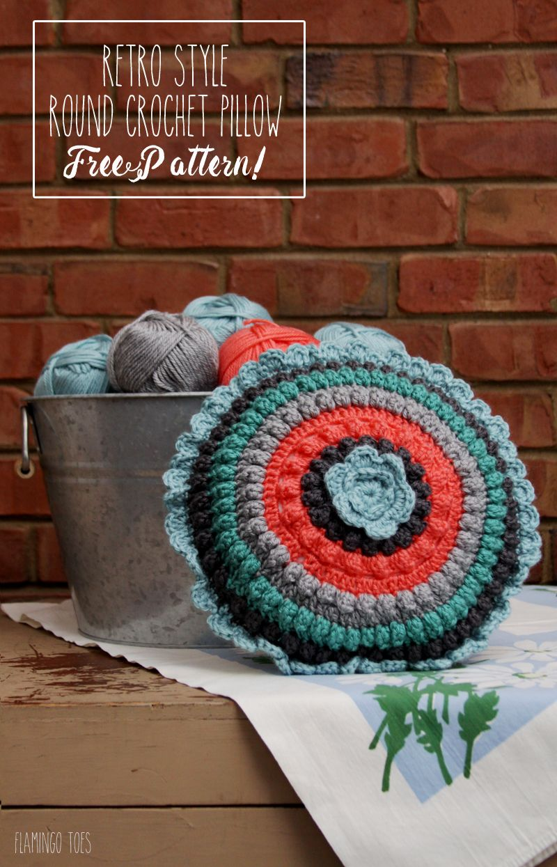 Retro Style Crochet Pillow - Free Pattern! | fun things to try ...