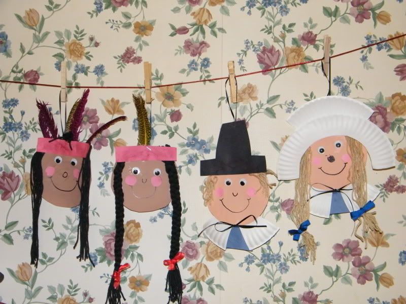 paper plate pilgrims and indians & paper plate pilgrims and indians | Thanksgiving | Pinterest ...