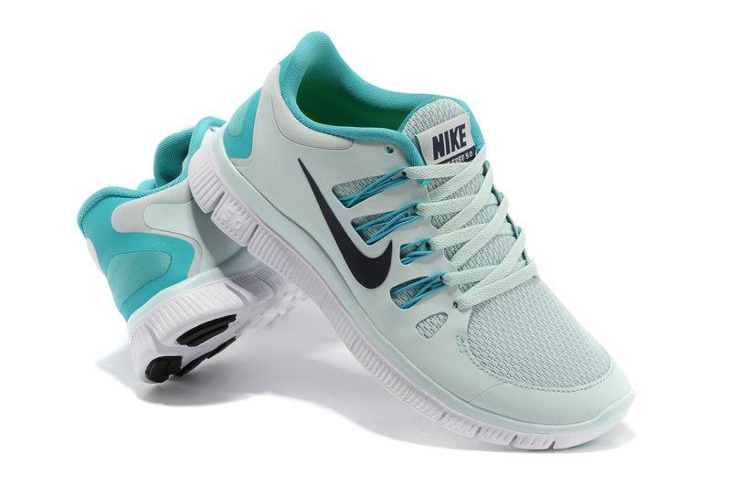 Newest Nike Free Run Running Shoe Womens Light Gray Blue