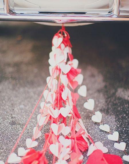 Trailing Hearts Wedding Car Decoration -