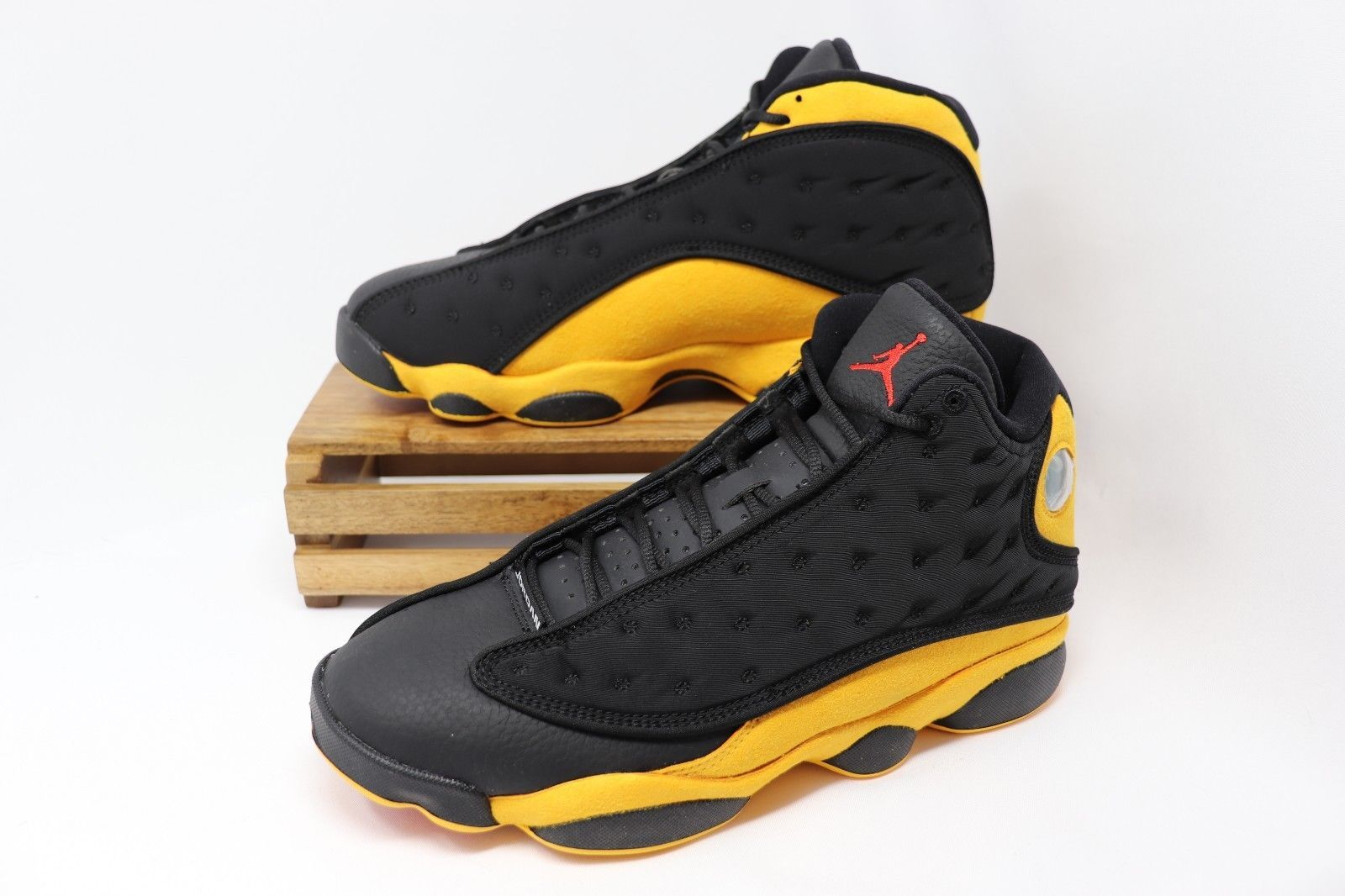release date 368e8 71807 Nike Air Jordan 13 XIII Retro Melo Black Yellow Red Class of 2002 414571-035  NEW