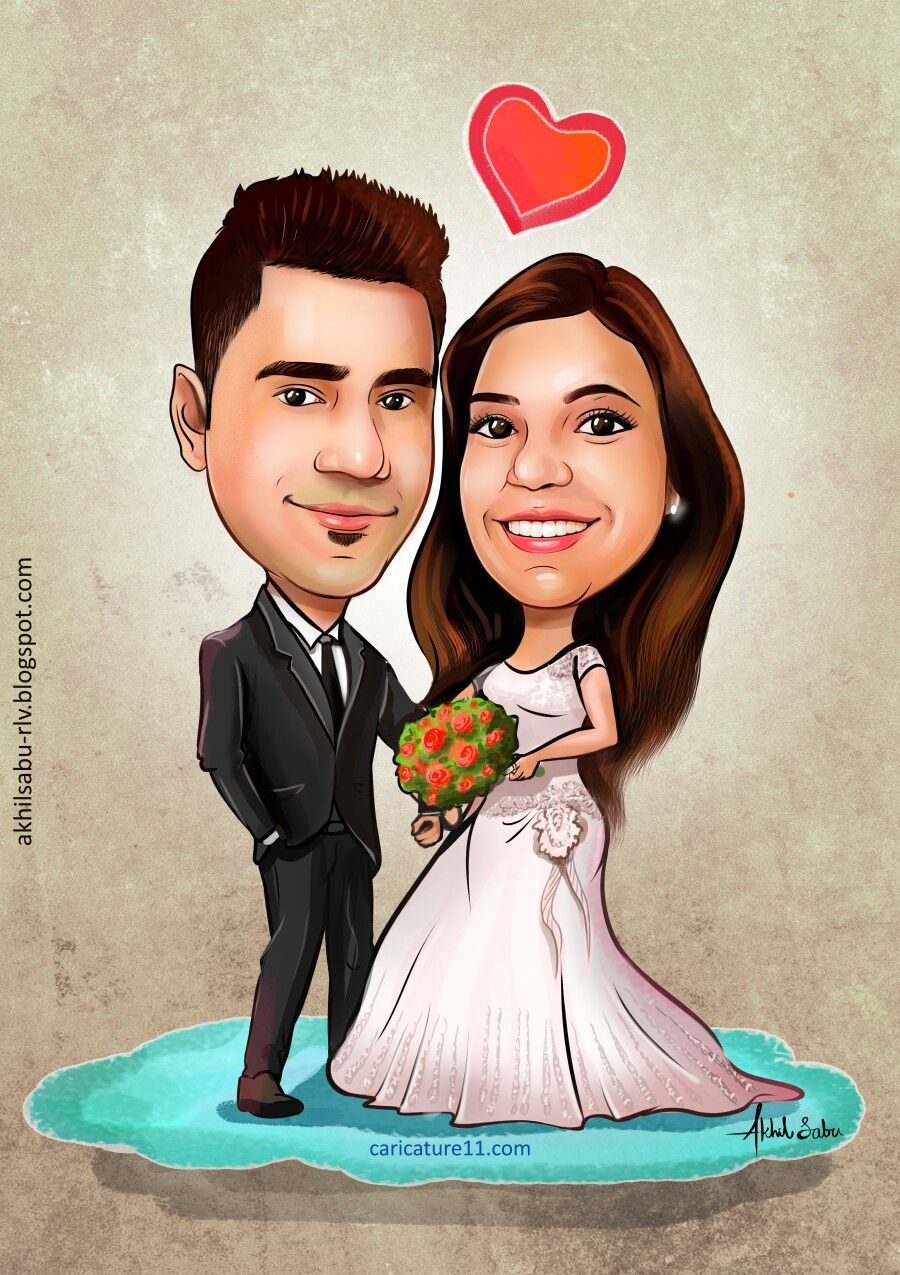 Pin by akhil sabu on wedding caricature Wedding caricature