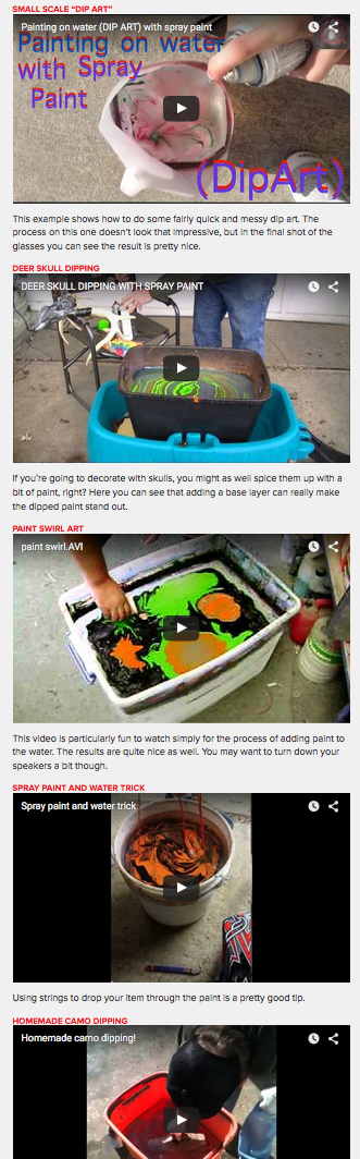 Watch: 12 Ways to Achieve Awesome Paint Jobs with Hydro Dipping #marblepainting