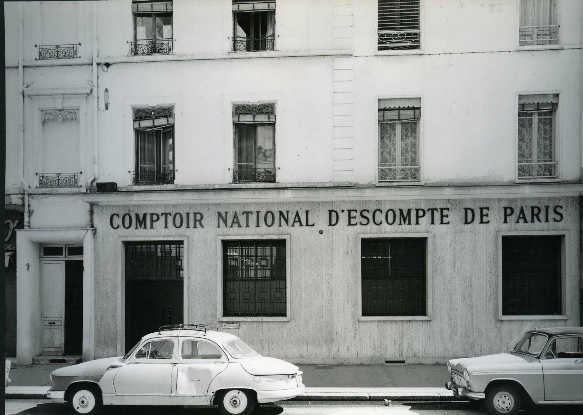 Vue dune agence du cnep comptoir national descompte de paris