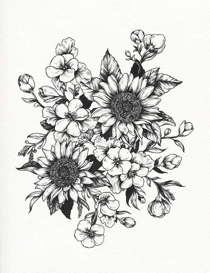 Flowers tattoo pinterest flowers tattoo and piercings