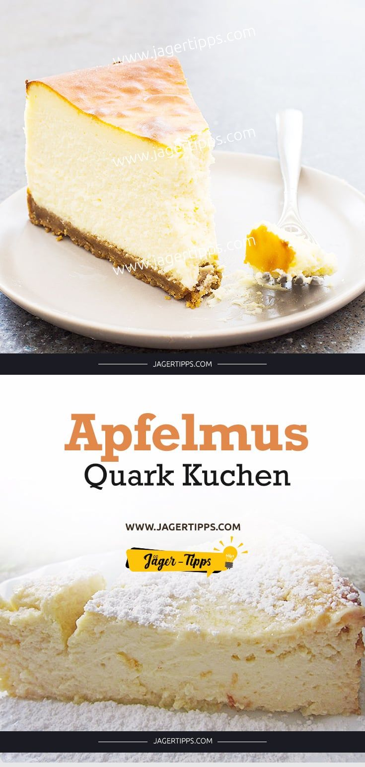 Apfelmus Quark Kuchen #simplecheesecakerecipe