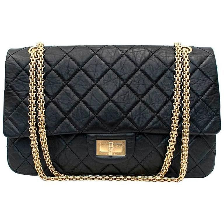646aadee019d Chanel 2.55 Reissue Black Double Flap Bag | 1stdibs.com | Chanel ...