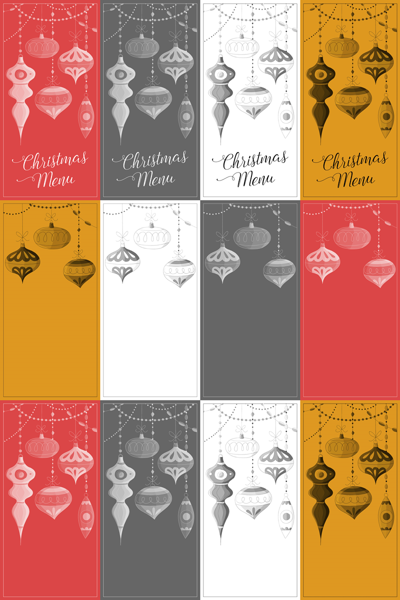 Free Printable Christmas Menu Cards Holiday Christmas Pinterest