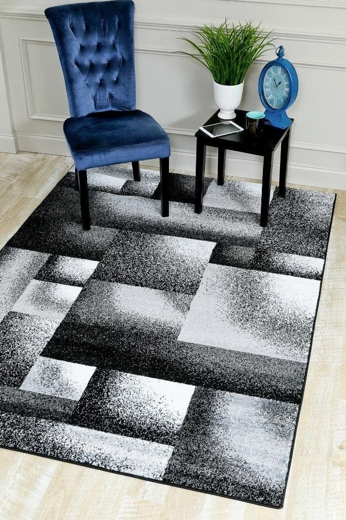 2036 Gray Contemporary Area Rugs
