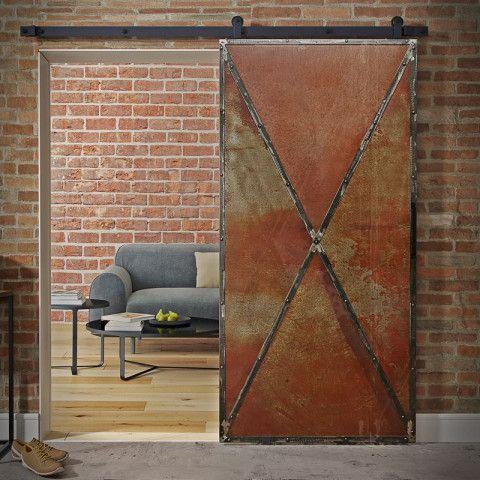RUSTY METAL steel sliding door