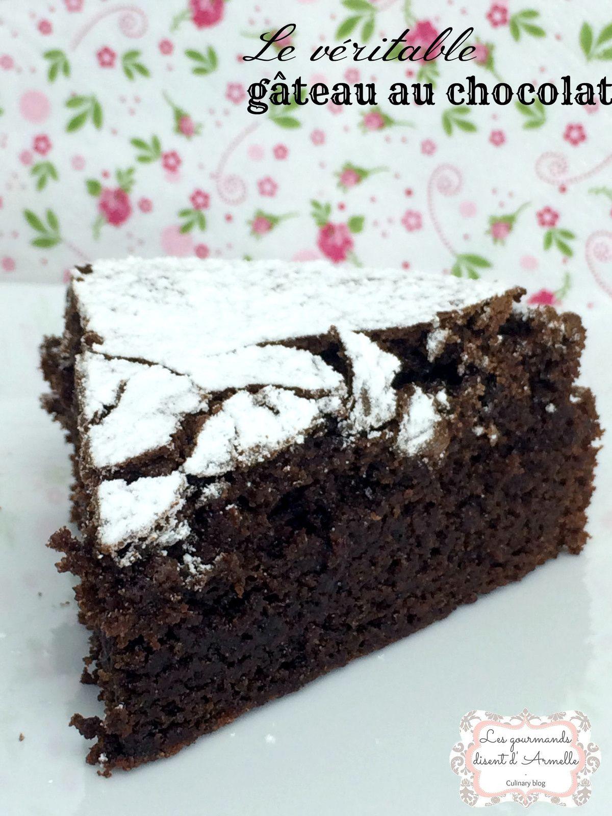Le véritable gâteau au chocolat (avec images)   Gateau ...