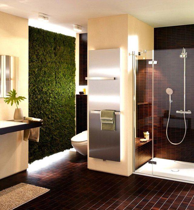 badezimmer-ideen-vertikaler-garten-bodengleiche-dusche-glaswande ... - Ideen Badezimmer