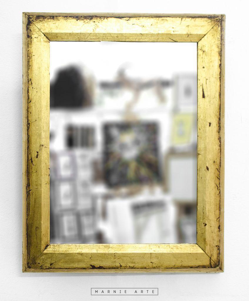 Espejo con marco dorado antiguo espejos pinterest - Marcos espejos antiguos ...