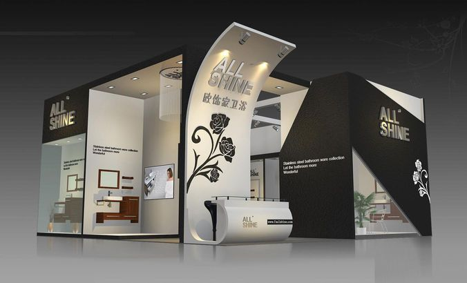 Exhibition Booth Animation : Shell scheme exhibition booth