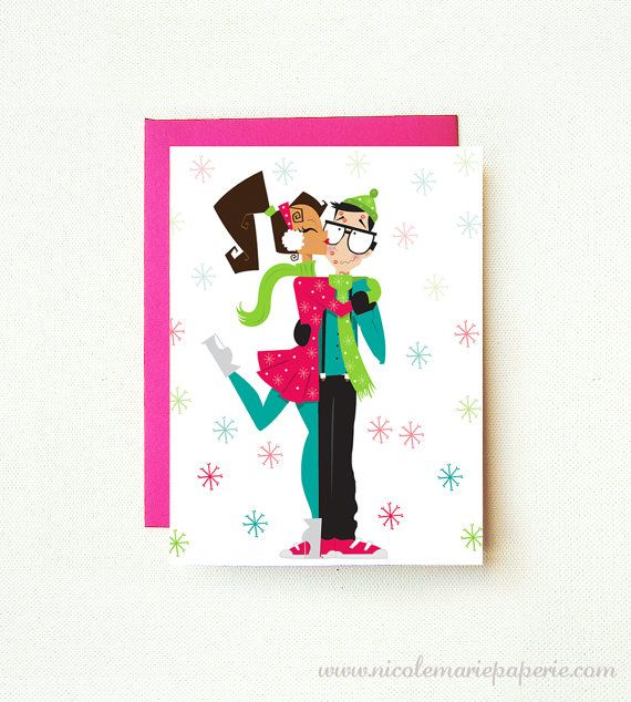 Holiday couple christmas card nerd love by nicolemariepaperie holiday couple christmas card nerd love by nicolemariepaperie 400 m4hsunfo