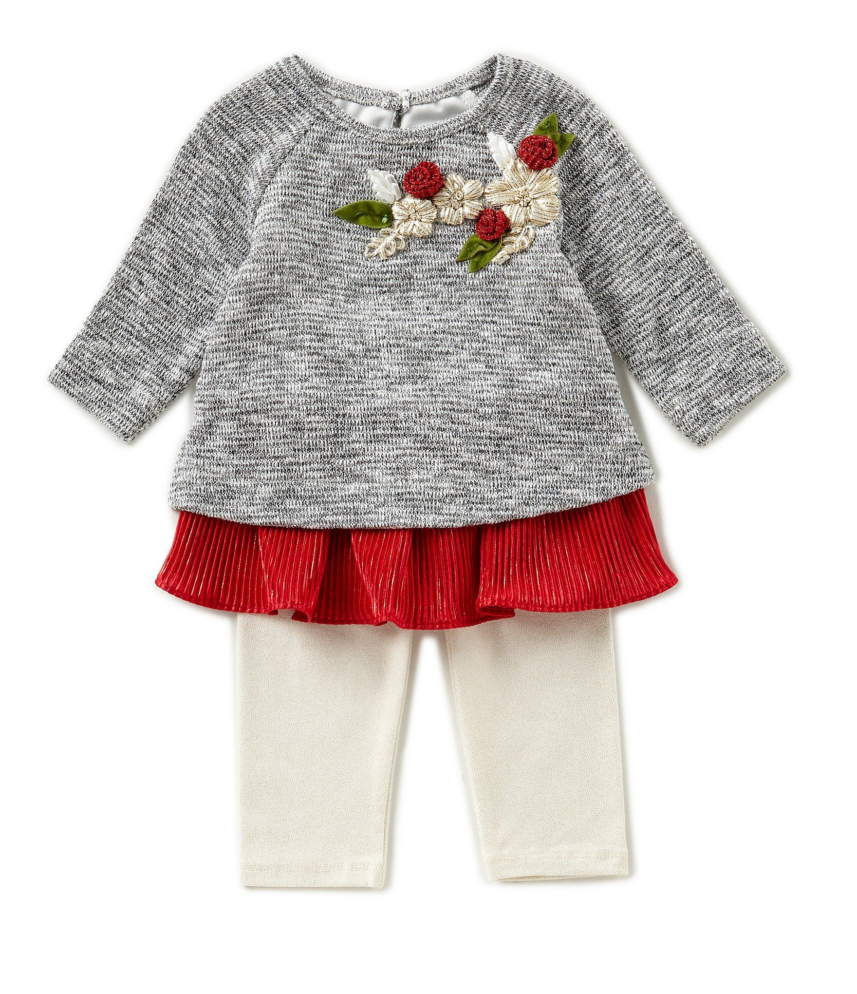 Rare Editions Baby Girls Newborn 24 Months Floral Applique Sweater