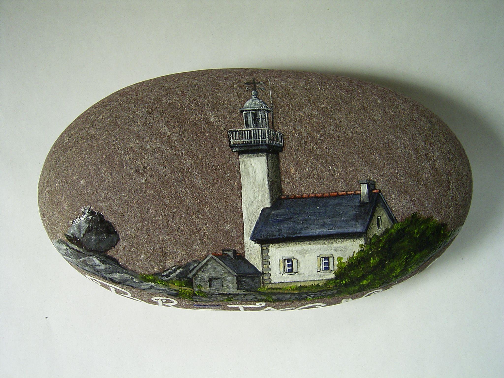 bemalte steine bemalte steine lighthouse painting pinterest bemalte steine steine und. Black Bedroom Furniture Sets. Home Design Ideas