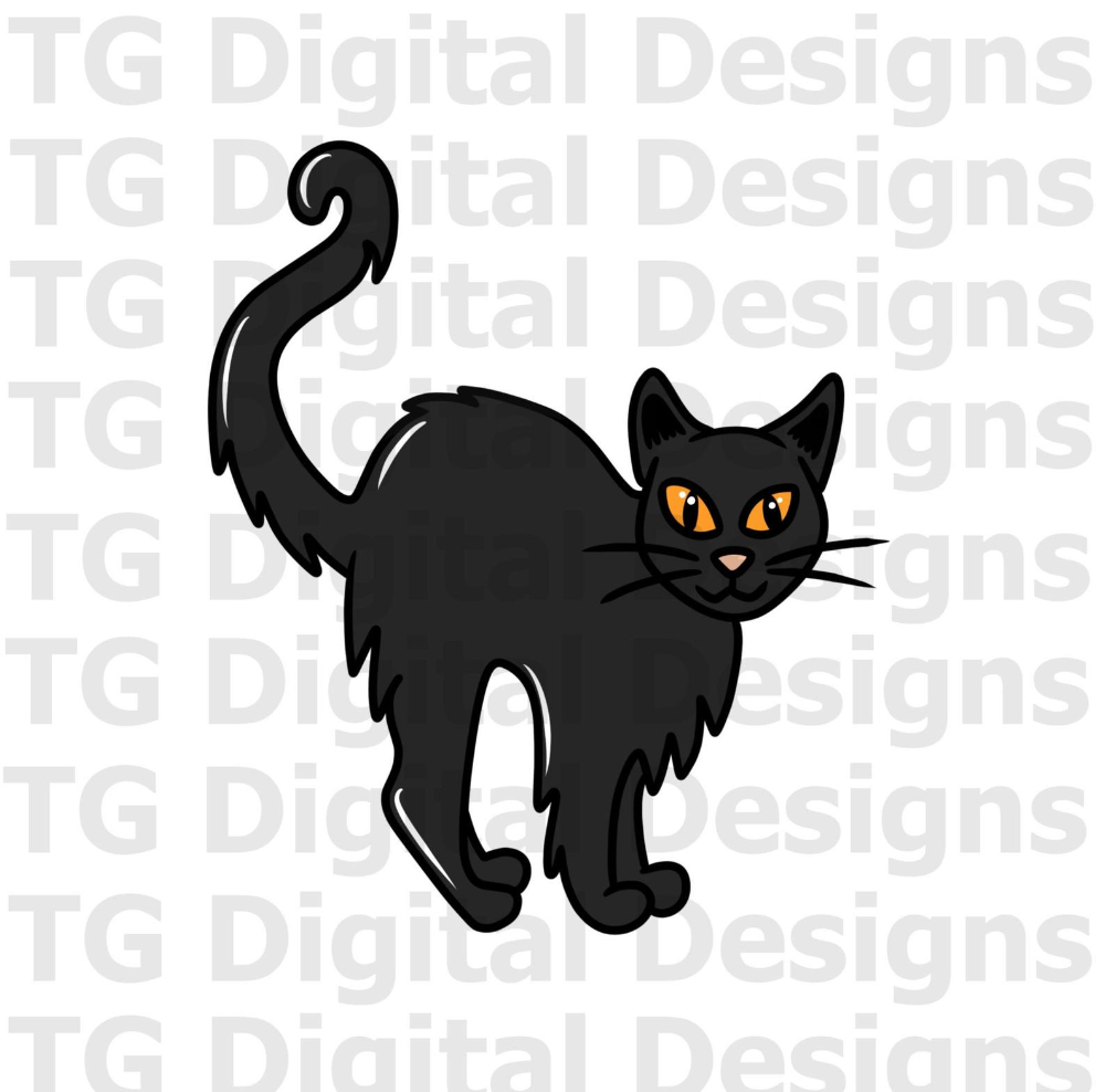 Halloween Cat Png Halloween Png Halloween Black Cat Cute Etsy Cat Clipart Black Cat Halloween Halloween Cat