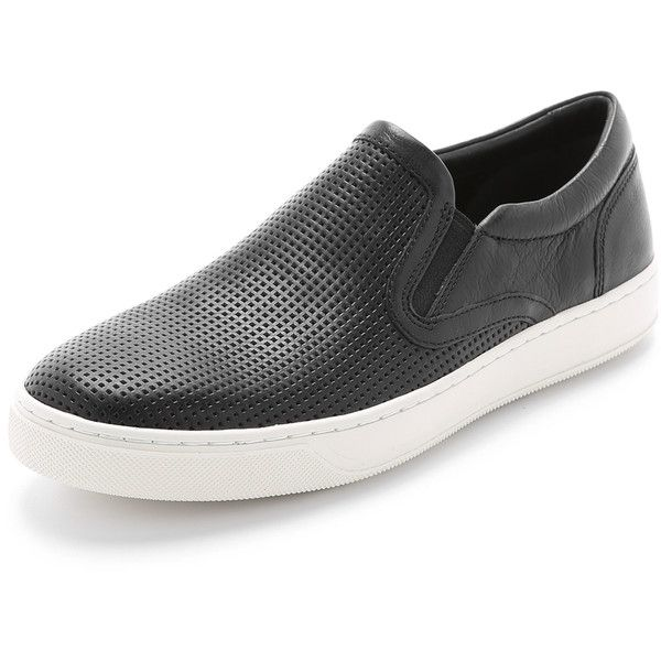 Vince Ace Perforated Leather Slip On