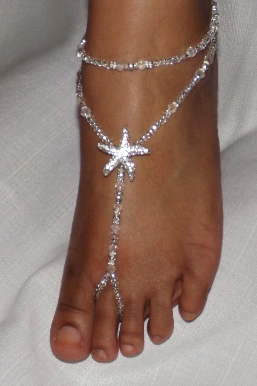 Beach wedding foot jewelry  Barefoot Sandal Bridal Jewelry Wedding Foot Jewelry Beach Jewelry