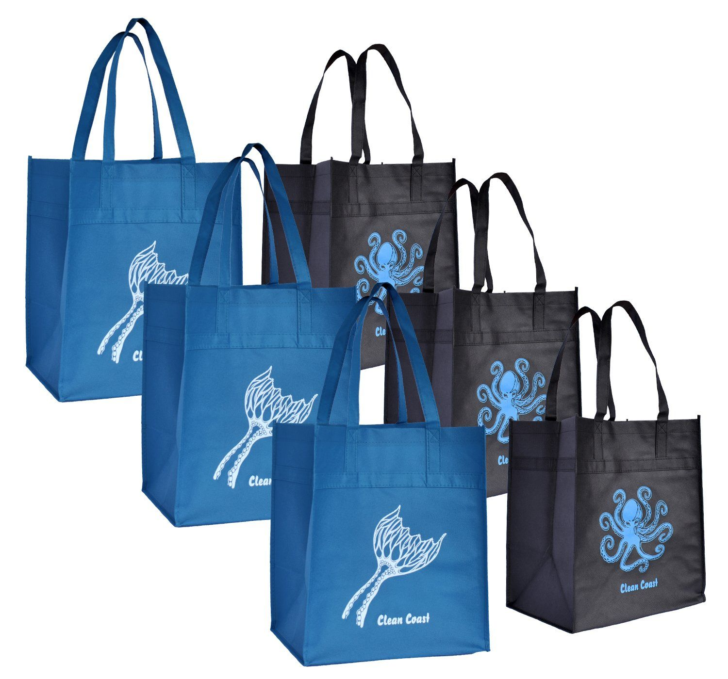 Reusable Grocery Shopping Tote Bags for Men   Women - (6 Pack 8e6585c38