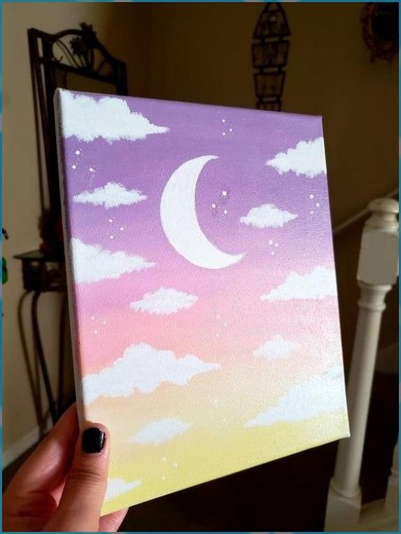 Aesthetic Cloud Painting Easy